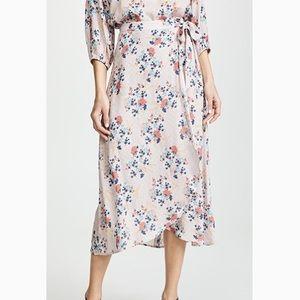 NWT Isadora floral print challis wrap skirt